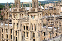 Oxford University, Medieval College Stock Images