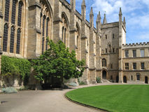 Oxford University, Medieval College Stock Image