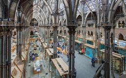Oxford University Museum of Natural History. Visitor's enjoy the exhibits in the interior main hall of Oxford University Museum of Natural History. The museum Stock Photography