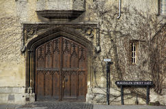 Oxford university - ornamental gate in Magdalen Street covered with Ivy Royalty Free Stock Photos