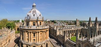 Oxford University panorama Royalty Free Stock Photography