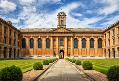 Oxford University_The Queen's College Royalty Free Stock Images