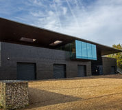 Oxford University Rowing Club. A modern Oxford rowing clubhouse beside the river Thames Royalty Free Stock Image