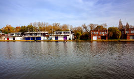 Oxford University Rowing Clubs. Some of the Oxford University rowing club houses Royalty Free Stock Image