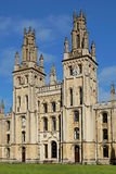 Oxford University. OXFORD - SEPTEMBER 2016: teaches only postgraduate students, and has taken gothic architecture to new heights Royalty Free Stock Photo