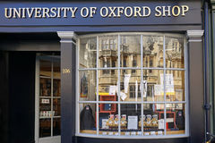 Oxford University shop Stock Images