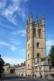 Oxford University. The soaring gothic tower of Magdalen College is the first sight of Oxford University when entering the town from the east Royalty Free Stock Photography