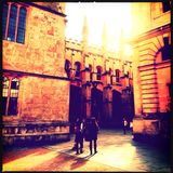 Oxford university students Stock Photography