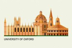 Oxford University. Vector Illustration. Oxford University. Vector Colorful Illustration. Flat Design vector illustration