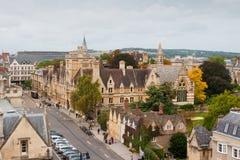 Oxford von oben. Oxfordshire, England Stockbilder