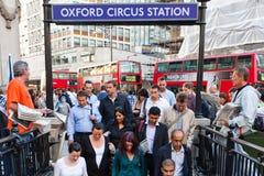 Oxford-Zirkusu-bahnstation Lizenzfreie Stockfotos