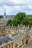 Oxford Zjednoczone Królestwo, Sierpień, - 21, miasto panorama na Sierpień 21, Obraz Royalty Free