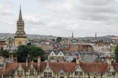 Oxford Zjednoczone Królestwo, Sierpień, - 21, miasto panorama na Sierpień 21, Zdjęcie Royalty Free