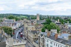 Oxford Zjednoczone Królestwo, Sierpień, - 21, miasto panorama na Sierpień 21, Zdjęcie Stock