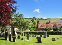 An Oxfordshire Village from the Churchyard Stock Photography