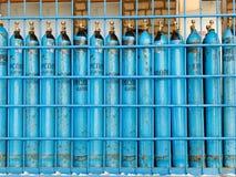 Oxígeno del cilindro médico Fotografía de archivo libre de regalías