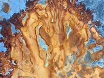 Oxidação abstrata no projeto do metal fotografia de stock royalty free