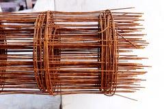 A oxidação da barra de aço é para a construção Imagem de Stock Royalty Free