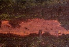 Oxidação da listra no metal Folhas de metal soldado foto de stock royalty free