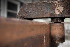 Oxidação do metal da roda fotografia de stock