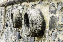 Oxidação e corrosão na pele da tubulação e do metal Corrosão do metal Oxidação dos metais imagens de stock royalty free