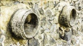 Oxidação e corrosão na pele da tubulação e do metal Corrosão do metal Oxidação dos metais imagem de stock royalty free