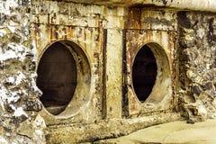 Oxidação e corrosão na pele da tubulação e do metal Corrosão do metal Oxidação dos metais fotos de stock