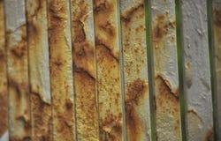 Oxidação e corrosão no cabelo tingido do metal imagens de stock