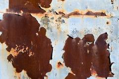 Oxidação e descascamento da pintura azul Imagens de Stock Royalty Free