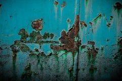 Oxidação e elemento azul fotografia de stock