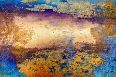 Oxidação em um fundo do metal Fotografia de Stock Royalty Free