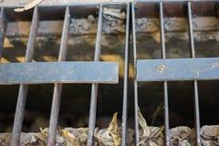 Oxidação grating de aço imagens de stock