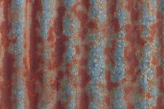 Oxidação na parede do zinco Imagens de Stock Royalty Free