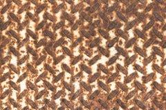 A oxidação na placa da textura do metal Foto de Stock Royalty Free