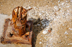 Oxidação no polo velho Imagens de Stock Royalty Free