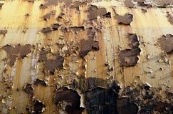 Oxidação, pintura velha na superfície de metal Fotos de Stock Royalty Free