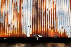 Oxidado aparecido en la placa del zince del metal del grunge Imágenes de archivo libres de regalías