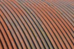 Oxidado, curvado e corrugado Imagens de Stock Royalty Free