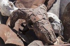 Oxidado de Calavera cabra recubierta de metal Images libres de droits