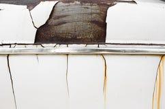 Oxidado en el coche viejo del vintage Foto de archivo libre de regalías