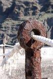 Oxidado y viejo en el puerto Imagen de archivo libre de regalías