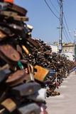 Oxidados velhos grandes abrem o cadeado Foto de Stock Royalty Free