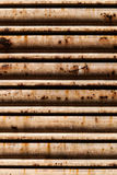 Oxidated metal blind. Background Royalty Free Stock Image