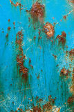 Oxidated metal. Surface of an old fishers ship making abstract texture Stock Photo