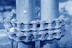 Oxidation rusting chain Stock Image