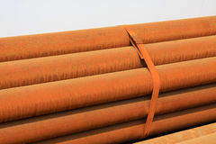Oxidation rusty steel banding together Stock Photo