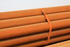 Oxidation rusty steel banding together Stock Photo