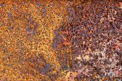 Oxiderad metall som gör en abstrakt textur Arkivfoto