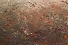 Oxiderad metallyttersida Arkivfoto