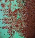 Oxiderad metallyttersida Royaltyfri Foto